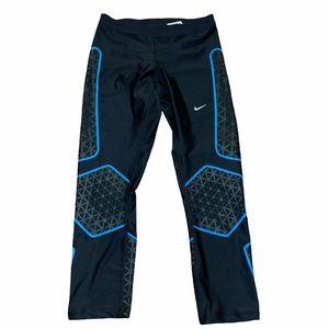 Nike DriFit Blue Black Leggings